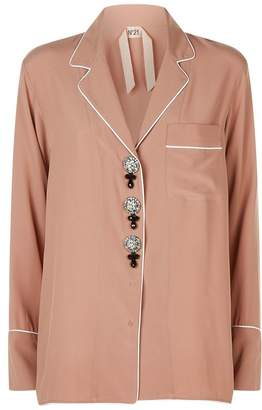 No.21 No. 21 Embellished Pyjama Shirt