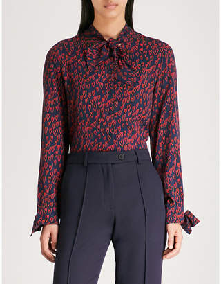 Claudie Pierlot Heat-print crepe shirt