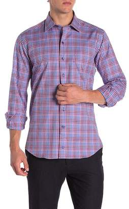 David Donahue Spread Collar Casual Fit Sport Shirt