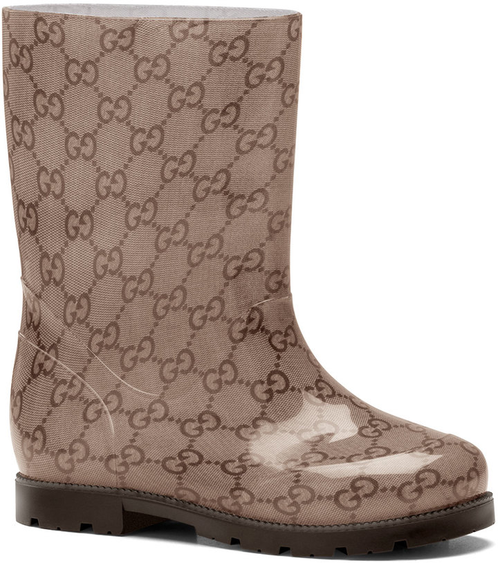 Gucci GG Rain Boot, Ebony, Youth