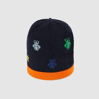 Gucci Baby bees and stars wool knit hat