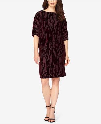 Tahari ASL Burnout Velvet Popover Dress $148 thestylecure.com
