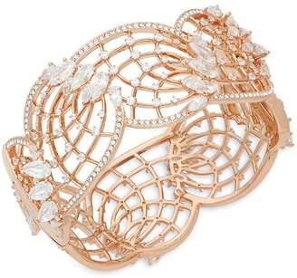 Adriana Orsini Women's Crystal and 18K Rose Gold Hinge Bracelet