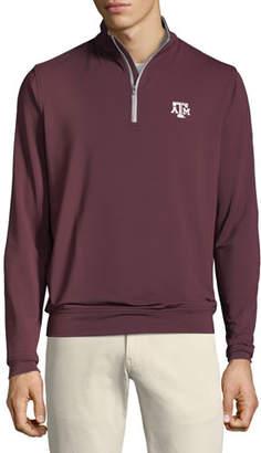 Peter Millar Men's Texas A&M Solid Stretch Half-Zip Shirt