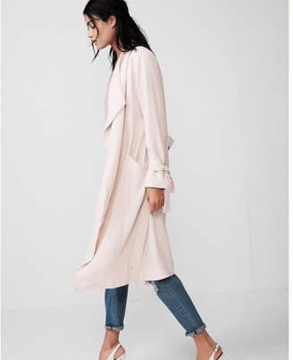 Express soft drape trench coat