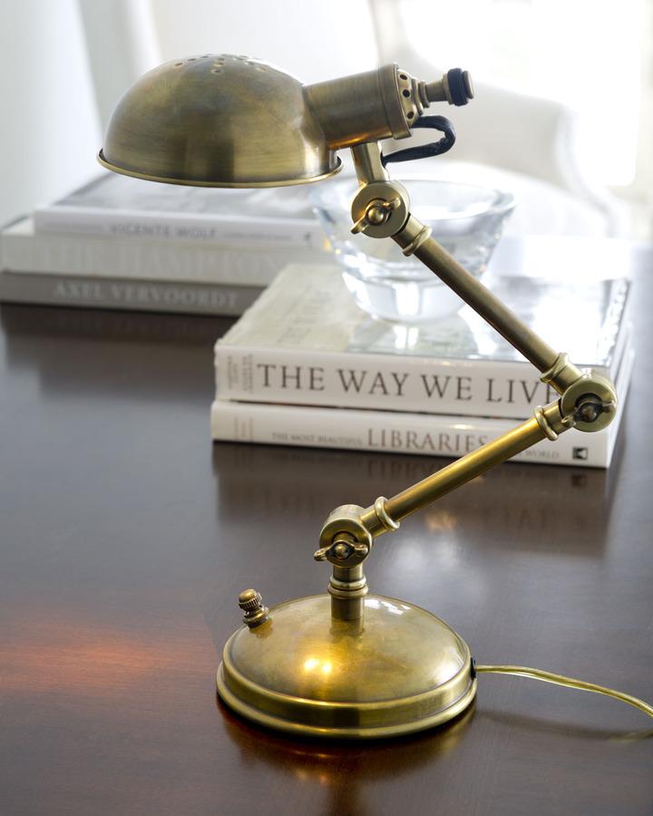 """""""Pixie"""" Golden Desk Lamp"""