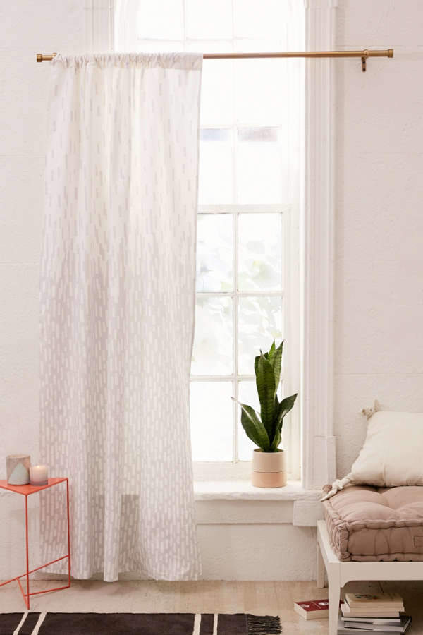 Modern Print Blackout Window Curtain