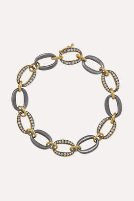 Sylva & Cie 18-karat Gold, Sterling Silver And Diamond Bracelet - one size
