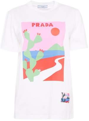 Prada Linea Rossa Printed T-shirt