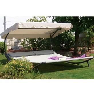 Abba Patio Outdoor Portable Double Chaise Lounge with Cushion Abba Patio