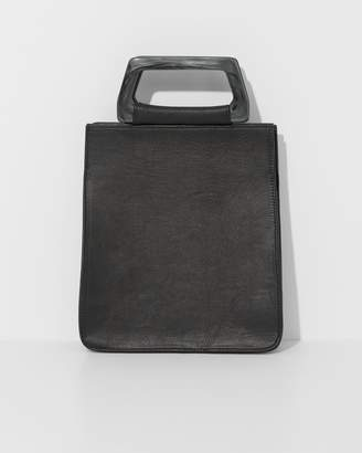 CLYDE Black Leather Rectangle Bag