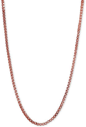 """Giani Bernini Adjustable 16""""- 22"""" Box Link Chain Necklace in 18k Rose Gold-Plated Sterling Silver"""