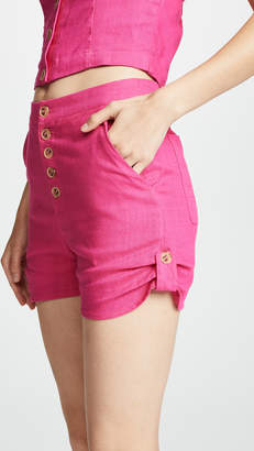 Moon River Button Shorts