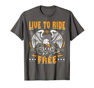 Live To Ride Free Shirt - Motorcycle T-Shirt - Biker Tee