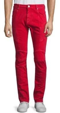 Pierre Balmain Moto Vintage Slim-Fit Jeans