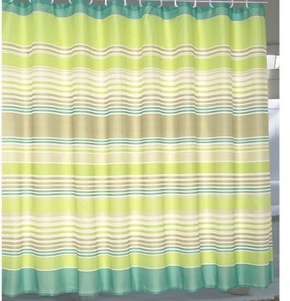 """Carnation Home Fashions Extra Wide """"Brighton"""" Fabric Shower Curtain"""