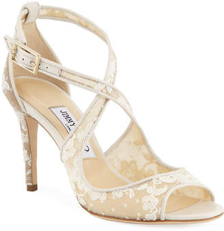Jimmy Choo Emily Lace 85mm Sandals