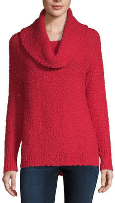 Liz Claiborne Textured Cowl Neck Tunic