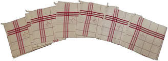 One Kings Lane Vintage French Red Stripe Towels - Set of 6