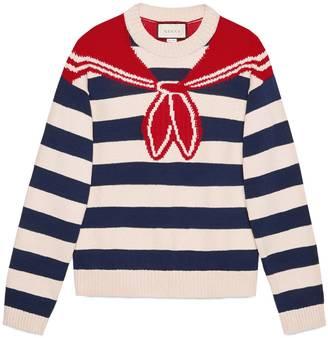 Bandana trompe l'oeil intarsia sweater $1,100 thestylecure.com