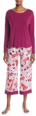 Kate Spade Floral-Print Cropped Pajama Set