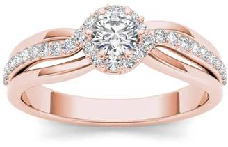 Imperial Diamond Imperial 1/2 Carat T.W. Diamond Single Halo 10kt Rose Gold Engagement Ring