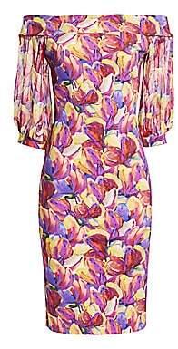 Chiara Boni Women's Elke Floral Off-The-Shoulder Sheath Cocktail Dress