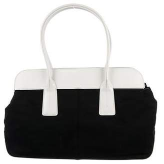 Tod's Leather-Trimmed Canvas Tote