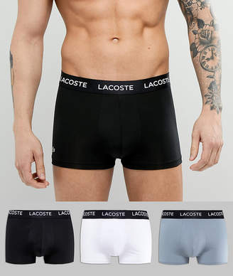 Lacoste Colors Trunks 3 Pack in Microfibre