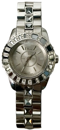 Christian Dior  Christian Dior Stainless Steel & Diamond 28mm Womens Watch