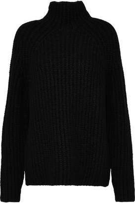 Theory Cable-knit Wool-blend Turtleneck Sweater