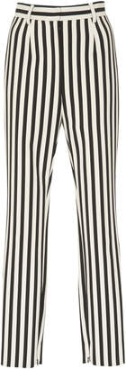 Dolce & Gabbana Striped Crepe Slim-Leg Pants