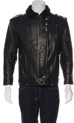 IRO Jameson Shearling Leather Biker Jacket