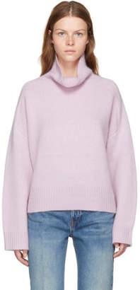 Wendelborn Pink Oversized Cashmere Turtleneck