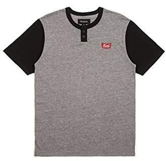Brixton Men's Stith Standard Fit Short Sleeve Henley Knit Tee