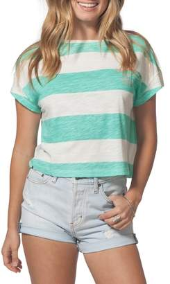 Rip Curl Frothing Box Stripe Crop Tee