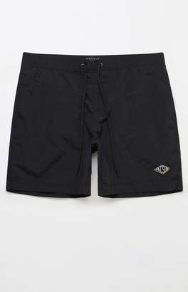 "PacSun Solid Black 17"" Swim Trunks"