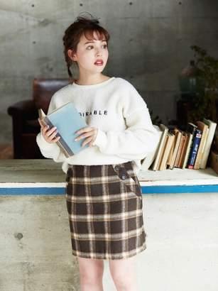 INGNI (イング) - イング シャギーチェック台形/スカート