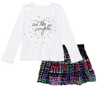 Kate Spade cue the confetti tee & skirt set (Toddler Girls & Little Girls)