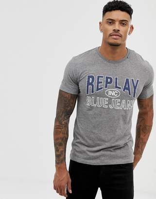 Replay Blue Jeans printed t-shirt in grey