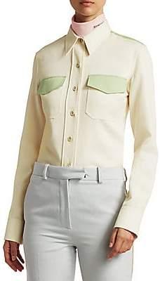 Calvin Klein Women's Wool Twill Uniform Shirt