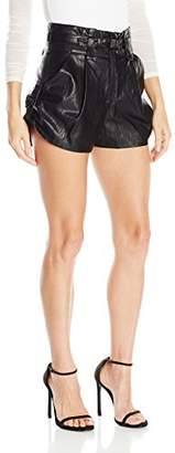 Just Cavalli Women's Coated Faux Leather Shorts