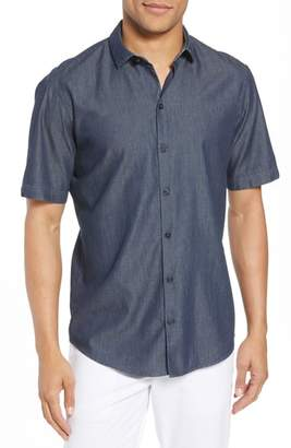 Zachary Prell Manolis Denim Sport Shirt