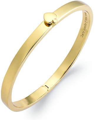 Kate Spade Bracelet, 12k Gold-Plated Spade Hinged Thin Bangle Bracelet