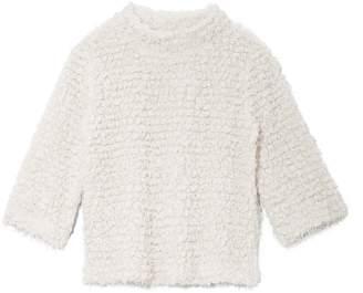 Vince Camuto Popcorn Eyelash-yarn Mock-neck Sweater