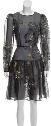 Valentino Sheer Printed Dress Sheer Printed Dress