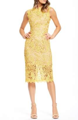 8a858b61df7d Dress the Population Claudette Crochet Lace Sheath Dress