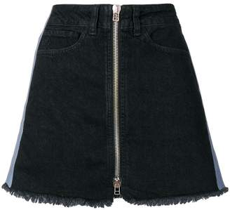 Marcelo Burlon County of Milan Cross tape denim skirt