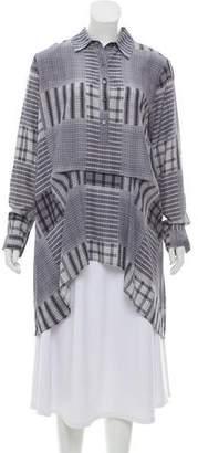 Marissa Webb Silk Long Sleeve Tunic