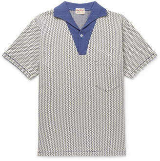 Levi's Striped Textured-cotton Polo Shirt - Ecru